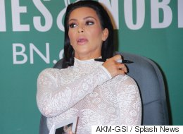 Watch Kim K's Book Signing Get Ambushed By Protesters