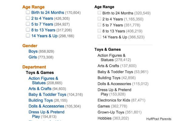 Amazon Removes Boys And Girls From Toy Categories Huffpost Life