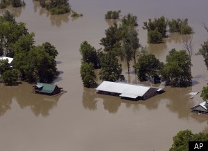 Mississippi River Flooding Levee Damage 2011