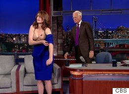 Tina Fey Strips Down To Her Underwear For David Letterman