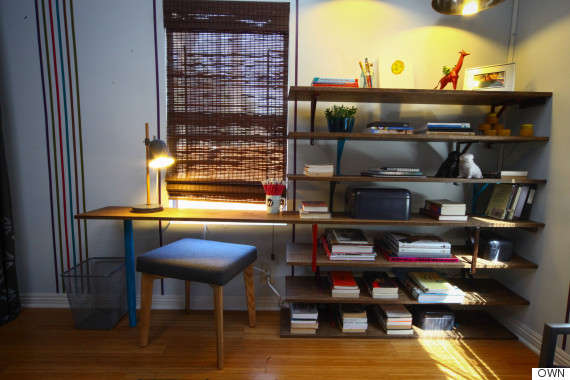 This Easy Diy Bookshelf Doubles As A Desk Huffpost