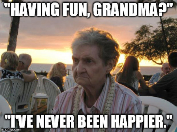 It s grandma s first time in hawaii and she s not impressed travel