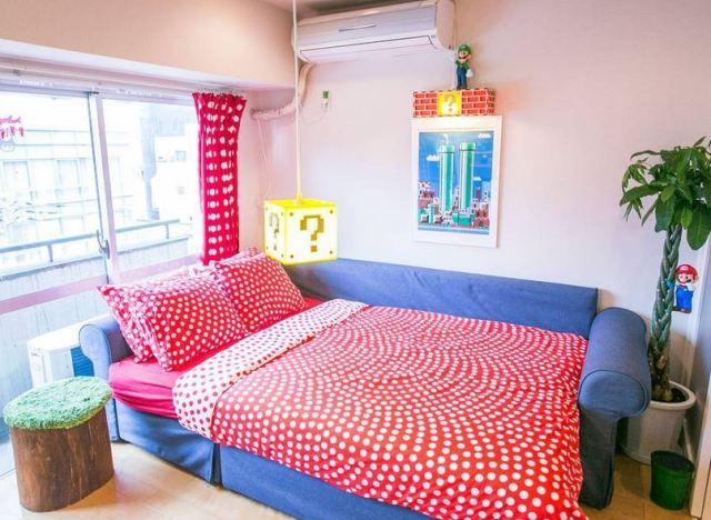 photos sur airbnb un appartement 100 super mario en location tokyo. Black Bedroom Furniture Sets. Home Design Ideas