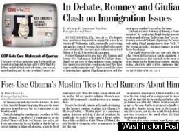 Washington Post Recycles False Obama Muslim Rumors