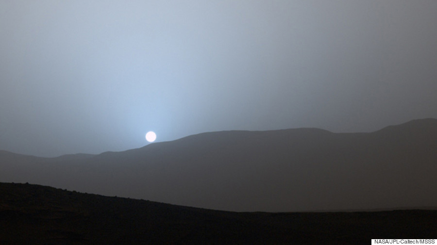 sun sets on mars nasa - photo #8