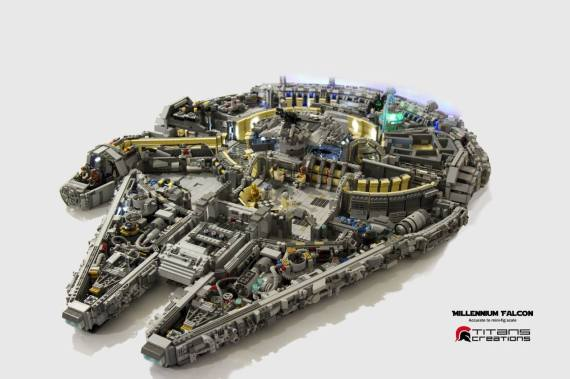 photos le millennium falcon de star wars en pi ces lego. Black Bedroom Furniture Sets. Home Design Ideas
