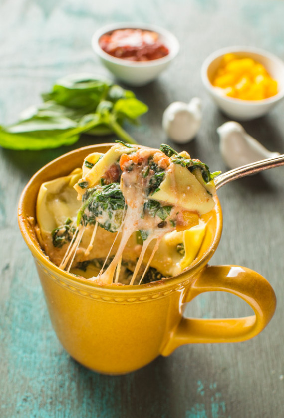 Get The Spinach Ricotta Lasagna In A Mug Recipe From Healthy Nibbles Bits