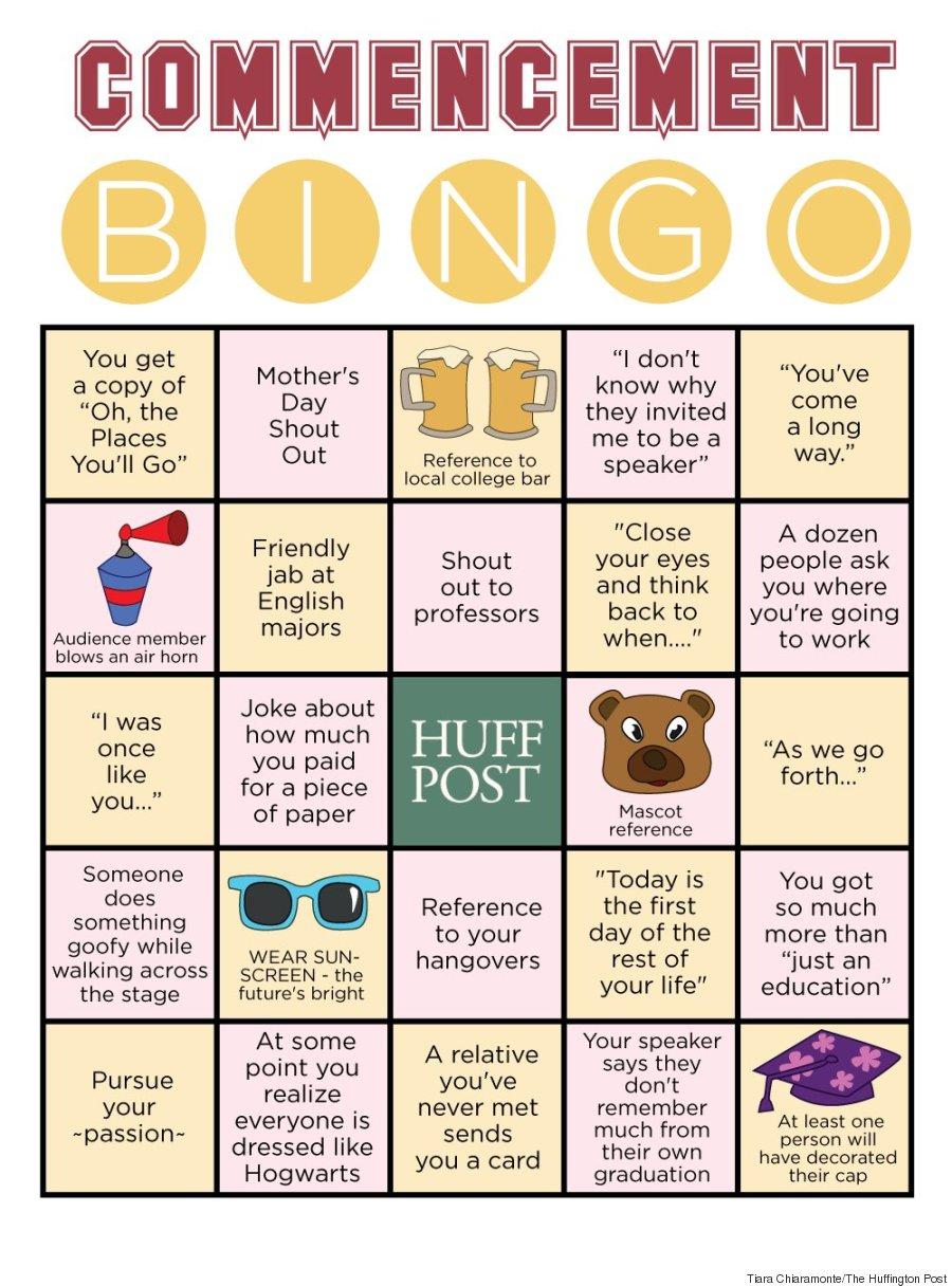 commencement bingo