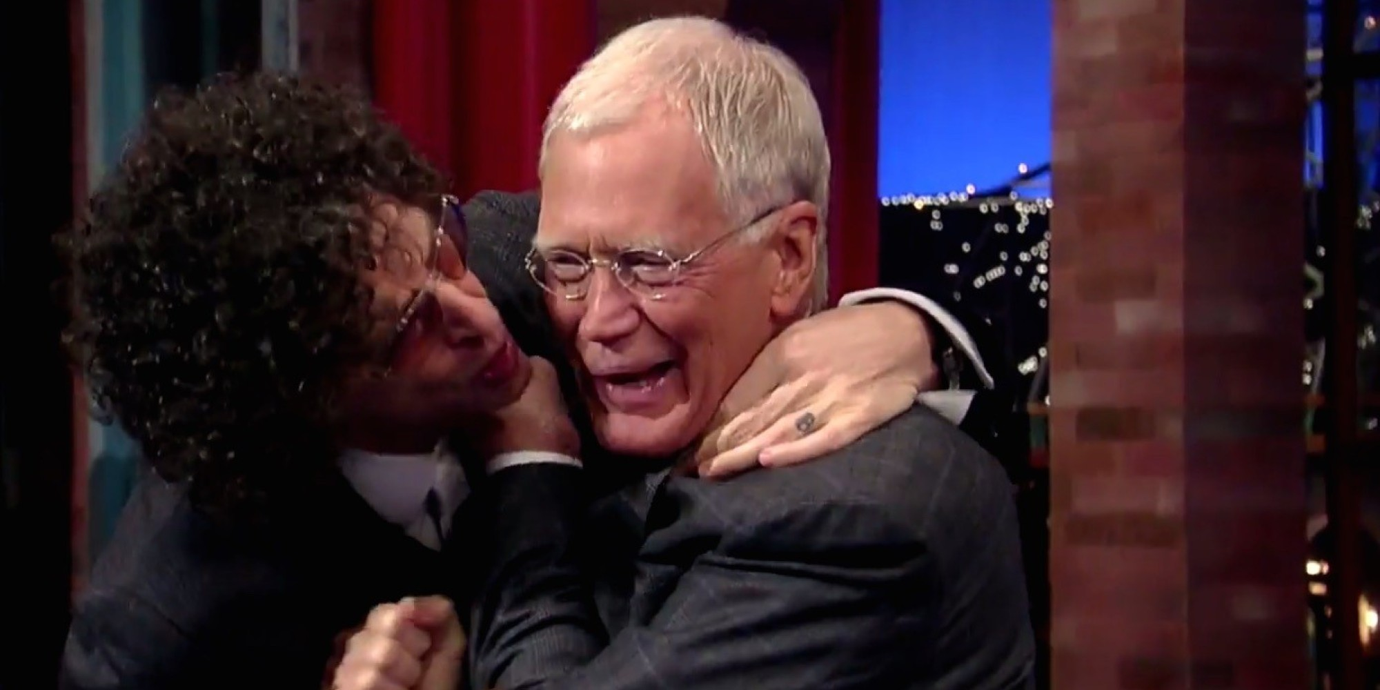 Howard Stern Tries To Give David Letterman A Goodbye Kiss | HuffPost