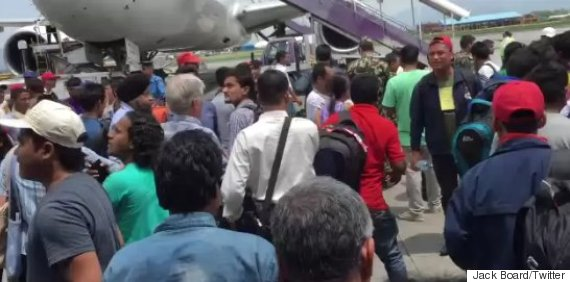 nepal earthquake video