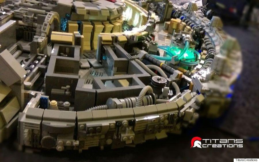 titans creations millennium falcon star wars lego