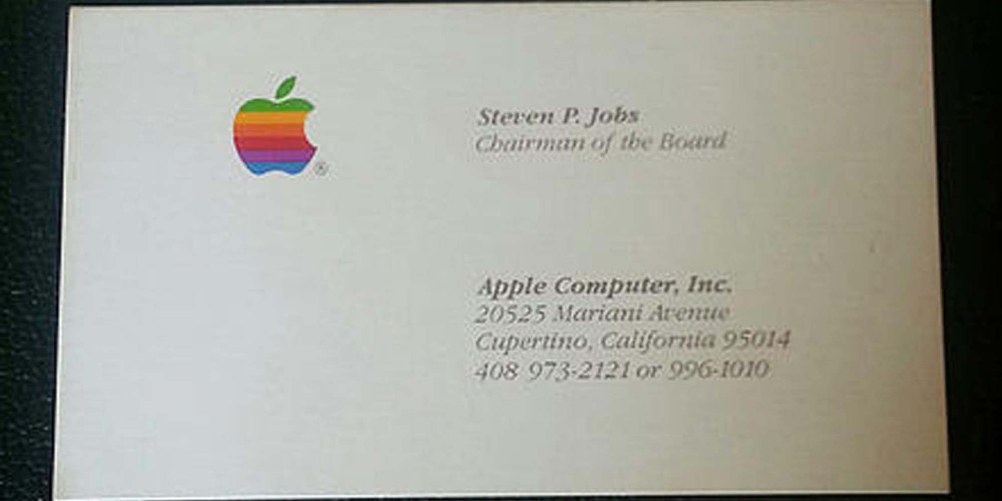 three rare steve jobs business cards just for over  three rare steve jobs business cards just for over 10 000 the huffington post