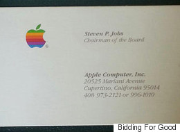 Three Steve Jobs Business Cards Just Sold For Over $10,000