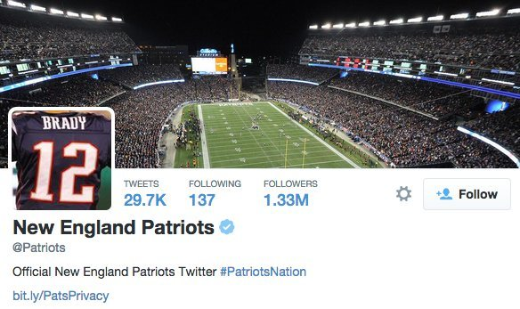 pats twitter account