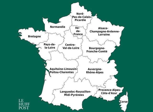 carte nouvelles regions francaises