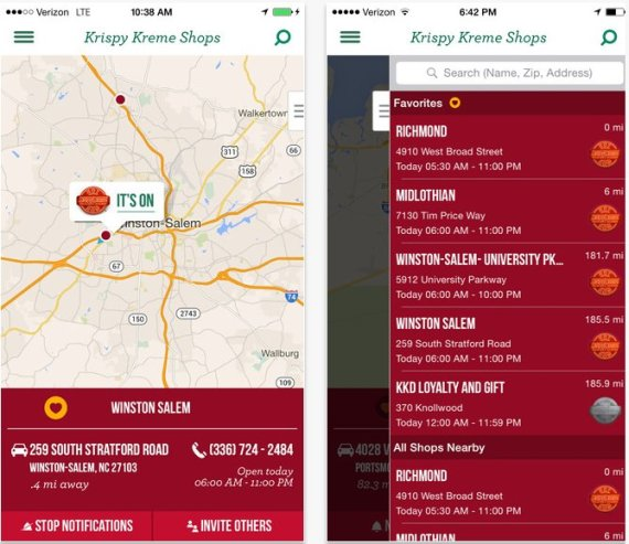 Krispy Kreme's Hot Light App Tells You When Donuts Are Fresh Out ...