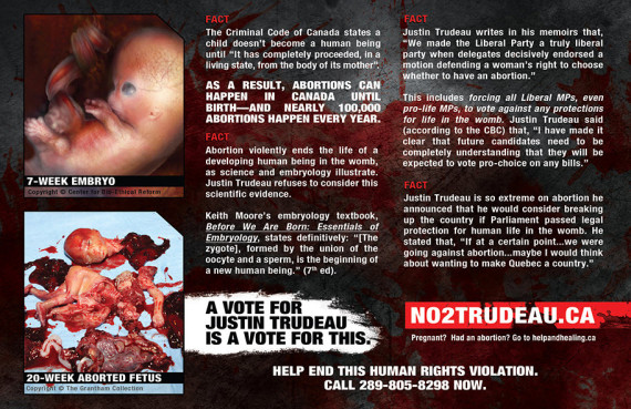 trudeau abortion postcard