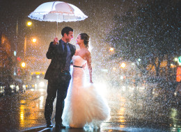 This Couple Made The Best Of Some Seriously Crappy Wedding Day Weather