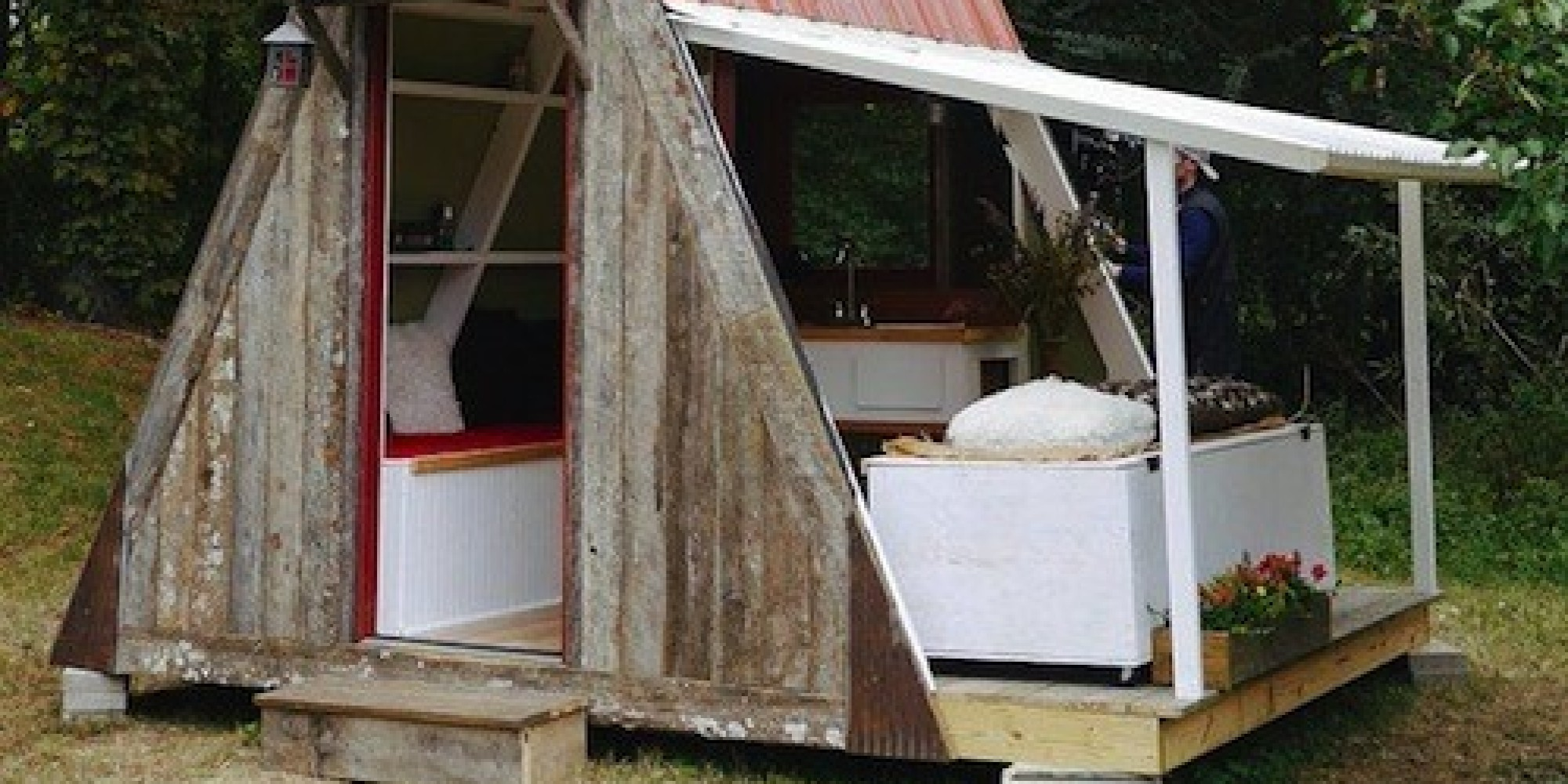 Tiny house costs living tiny nicole 39 s bathhouse home for How much does it cost to build a house yourself