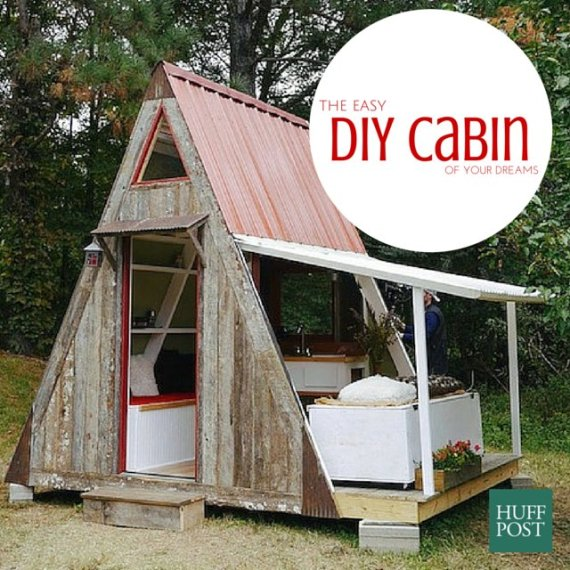Damn simple 39 tiny house costs just 1 200 to build yourself for Easy to build cabins