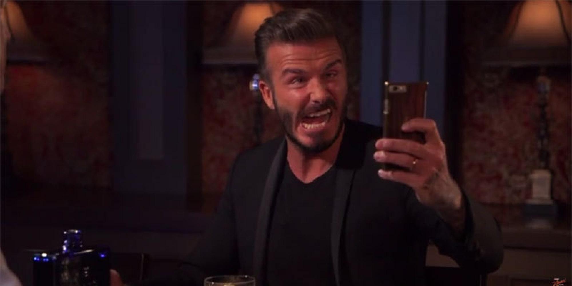 David Beckham Attempts To Take An Ugly Selfie. Succeeds ... David Beckham Facebook