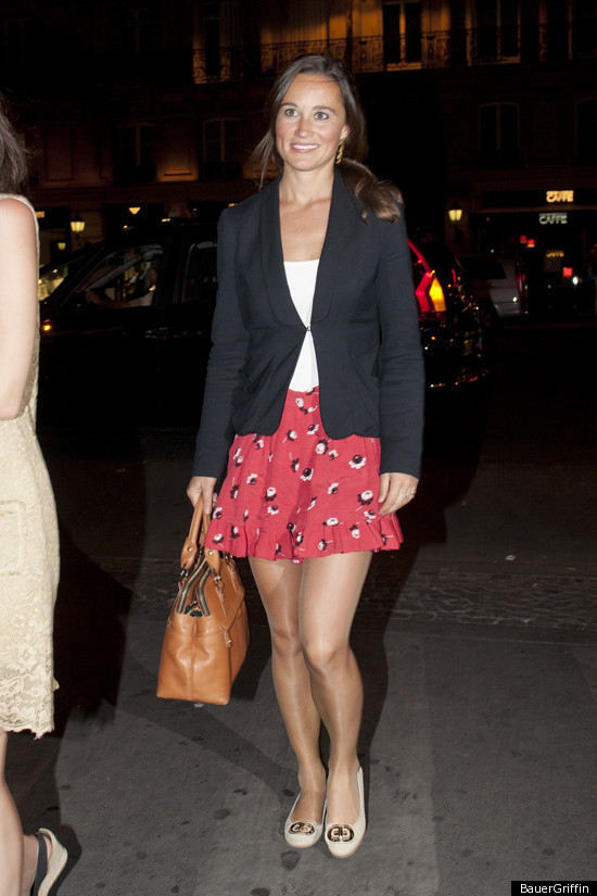 Pippa Middleton. Pippa in her tights: Story continues below. FOLLOW HUFFPOST STYLE