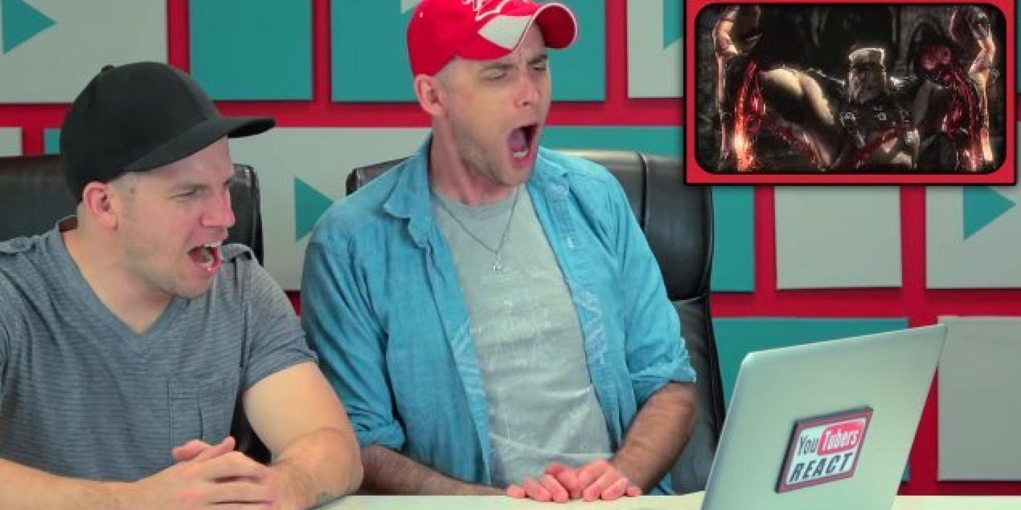 Youtubers React To Comically Gruesome Mortal Kombat X Fatalities Huffpost