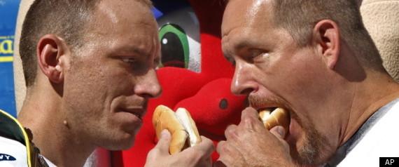 NATHANS HOT DOG EATING CONTEST 2011