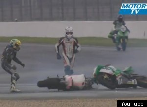 French Motorcycle Crash