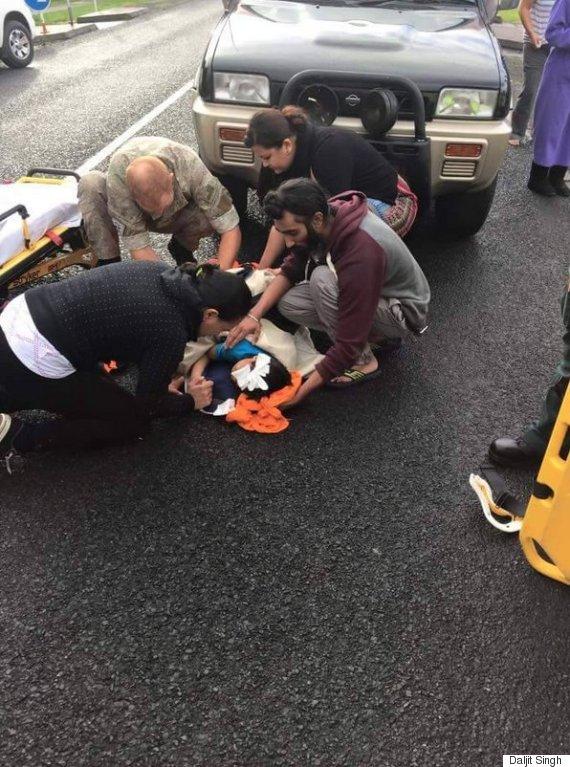 sikh saves injured boy