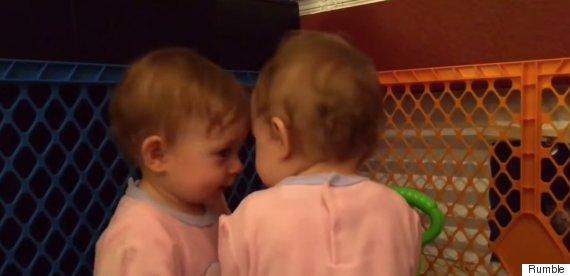 babies kiss