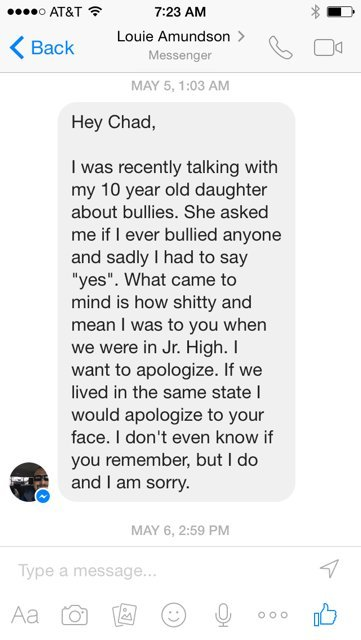 Former Bully Sends Powerful Apology To Classmate 20 Years Later