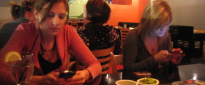 TEXTING AT DINNER