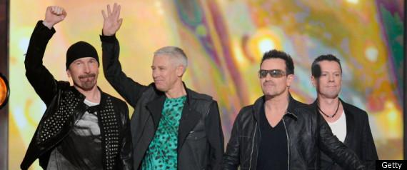U2 PROTESTS GLASTONBURY