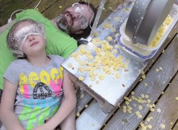 Dad And Daughter Make 'Ultimate Cereal Eating Machine'