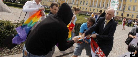 RUSSIA GAY PRIDE ATTACK