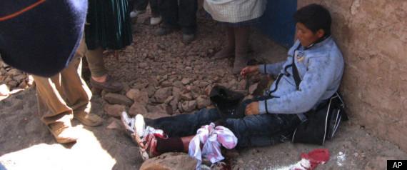 PERU MINE PROTEST KILLED POLICE