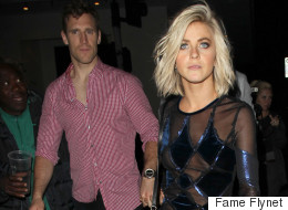 Julianne Hough Tries The Sheer Trend With Harlequin Dress