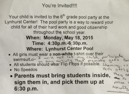 Sexist Sixth-Grade Pool Party Dress Code Changed After Mother Complains