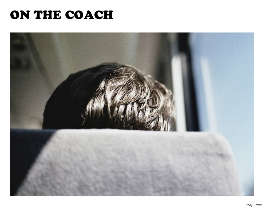 on the coach