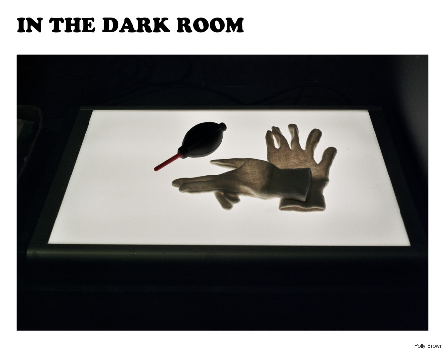 in the dark room