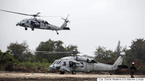 helicopters on tinian