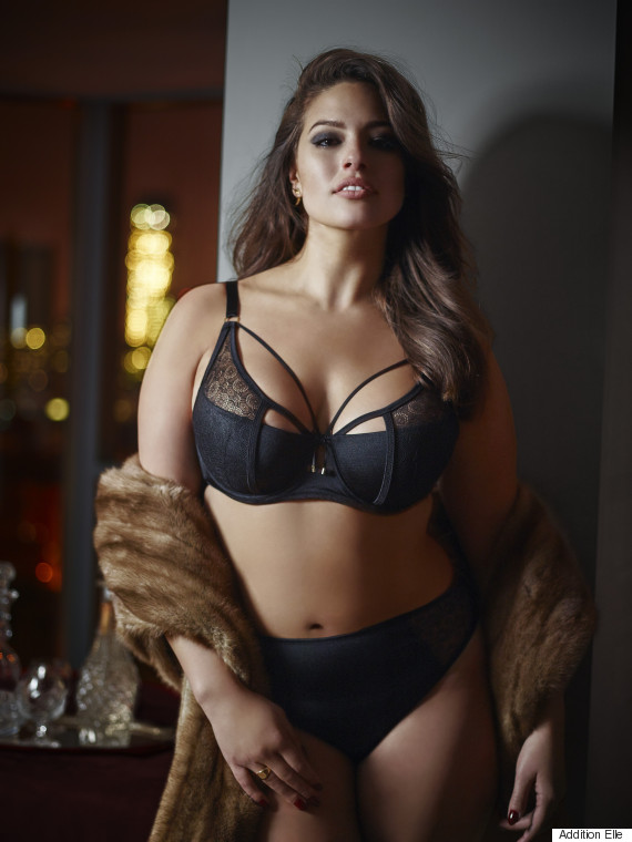 4a894dd1adc Model Ashley Graham s New Lingerie Line Is Inspired By  Fifty Shades ...