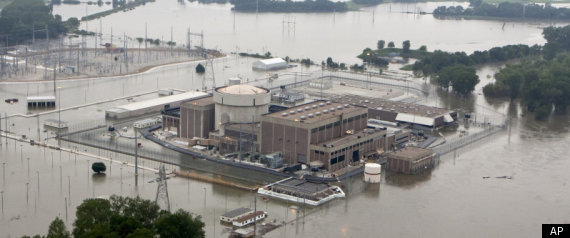 Floodwater in nuke plant
