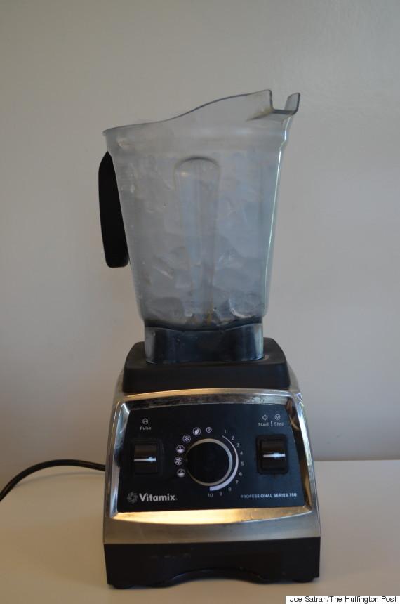 ice in blender