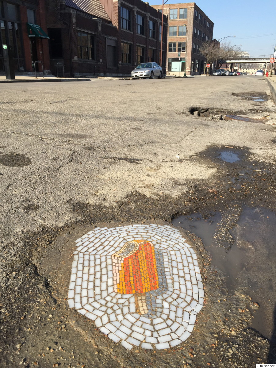 Image result for pothole art
