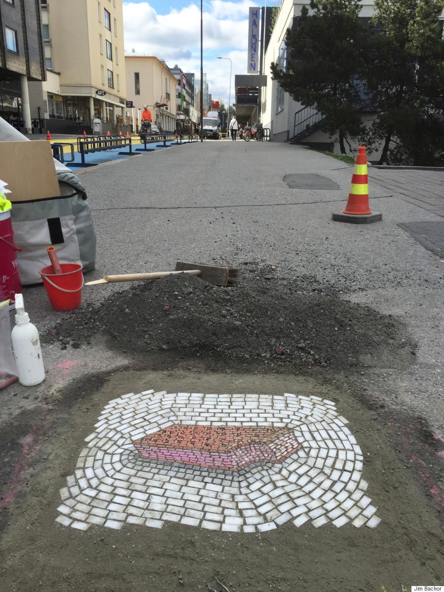 ice cream sandwich pothole