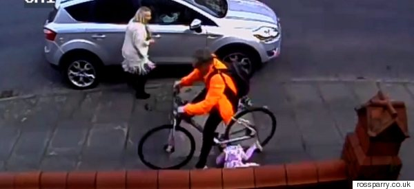 Toddler Dragged 12 Feet In Shocking Hit And Run Cyclist Footage