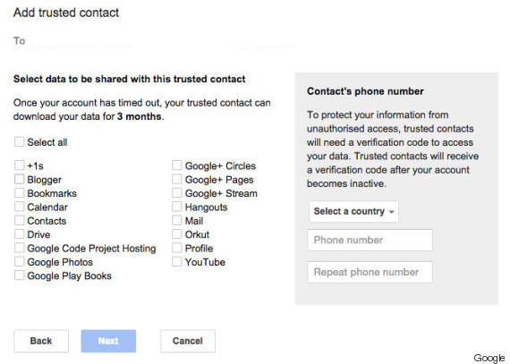 google trusted contact