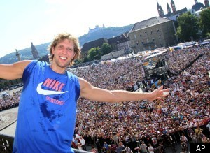 Dirk Nowitzki Germany Celebration